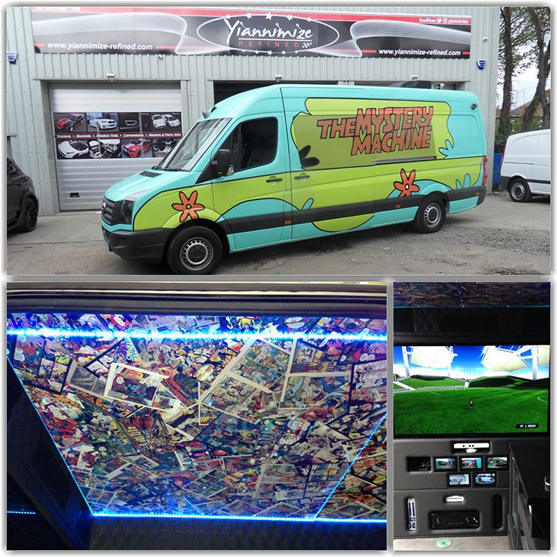 One Direction's Mystery Machine Van