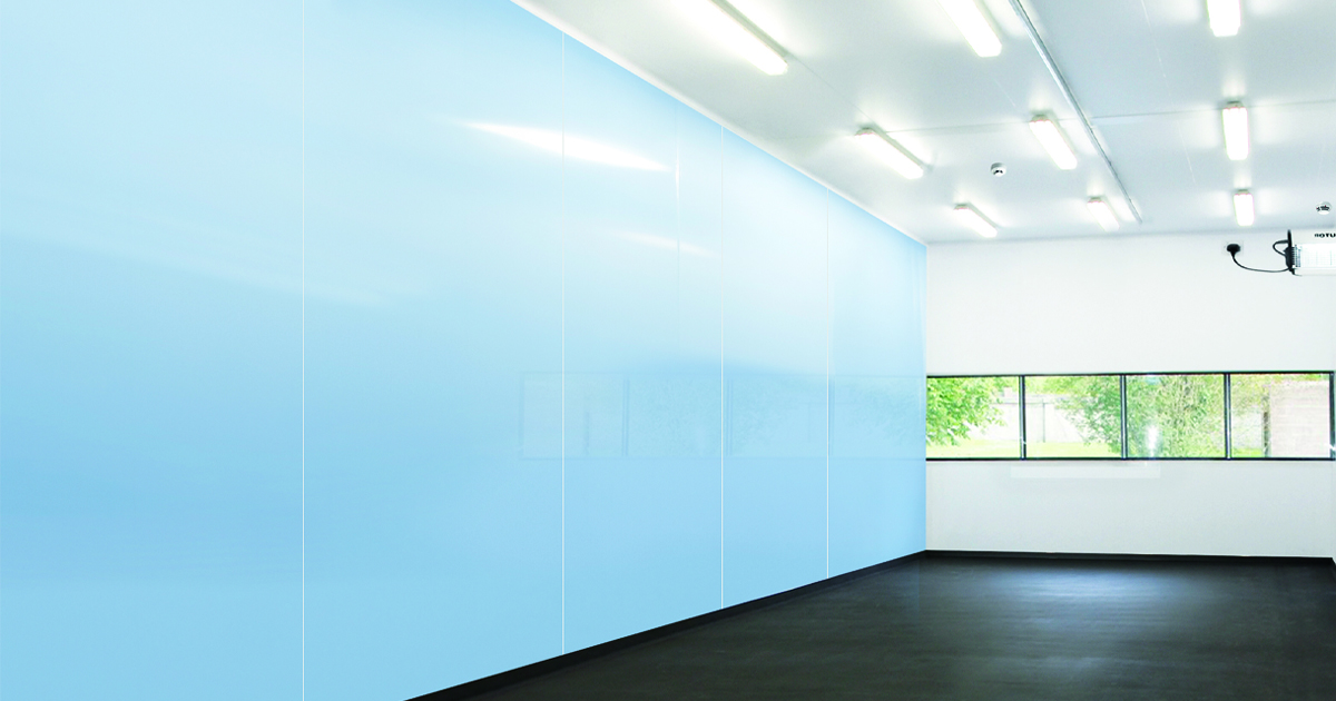 Plasiax Pure wall cladding in blue