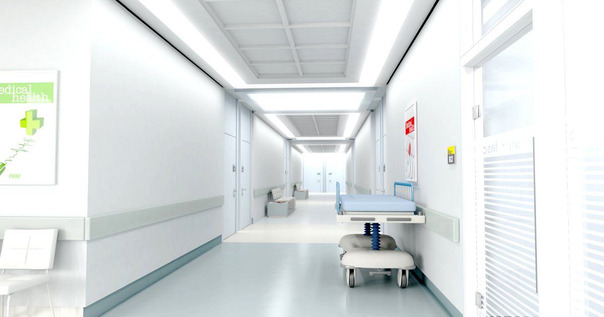 Wall cladding in hospital environment